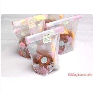 200 pz/lotto trasporto libero chiaro biscotto sacchetto di plastica con multicolore dot / usa e getta pasticceria bag per torta biscotto(China (Mainland))