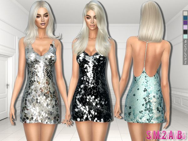 The Sims Resource: 248 - Sequins Dress by sims2fanbg • Sims 4 Downloads