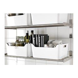 IKEA - VARIERA, Box, Dank der seitlichen Grifföffnungen leicht herauszuziehen, zu tragen und zu transportieren.Oben offen für gute Übersicht und schnellen Zugriff. Praktisch für Gemüse, Zeitungen usw.Dank abgerundeter Ecken leicht zu reinigen.