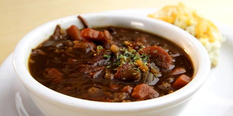 Beef and Barley Soup-recipe from the Chuckwagon Grill in Turner Valley Alberta.