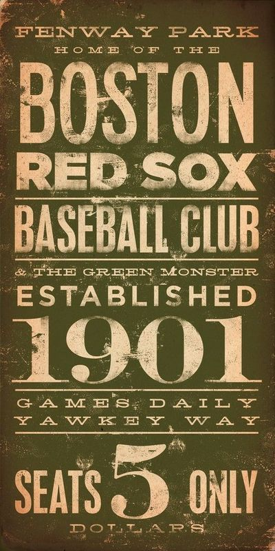 Vintage Boston Red Sox ticket