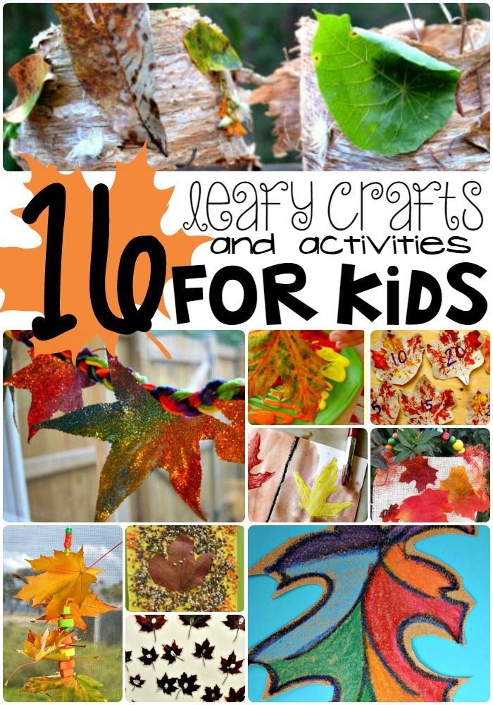 Such fun leaf crafts and activities for you today! Kids will love playing with nature with these activities