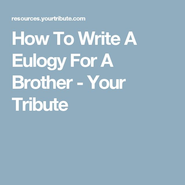 how to write a tribute speech A eulogy is a speech given at a what you need to know about eulogies, tributes, and other speeches for many people, writing and delivering a eulogy is a.