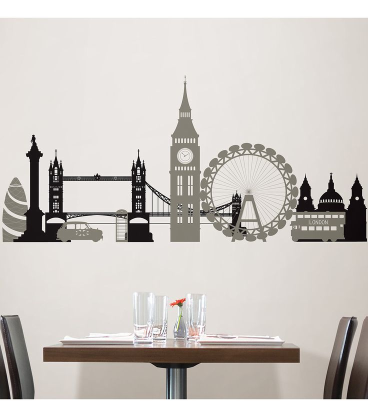 Wall Pops London Calling Wall Art Decal Kit, 2 Piece Setnull