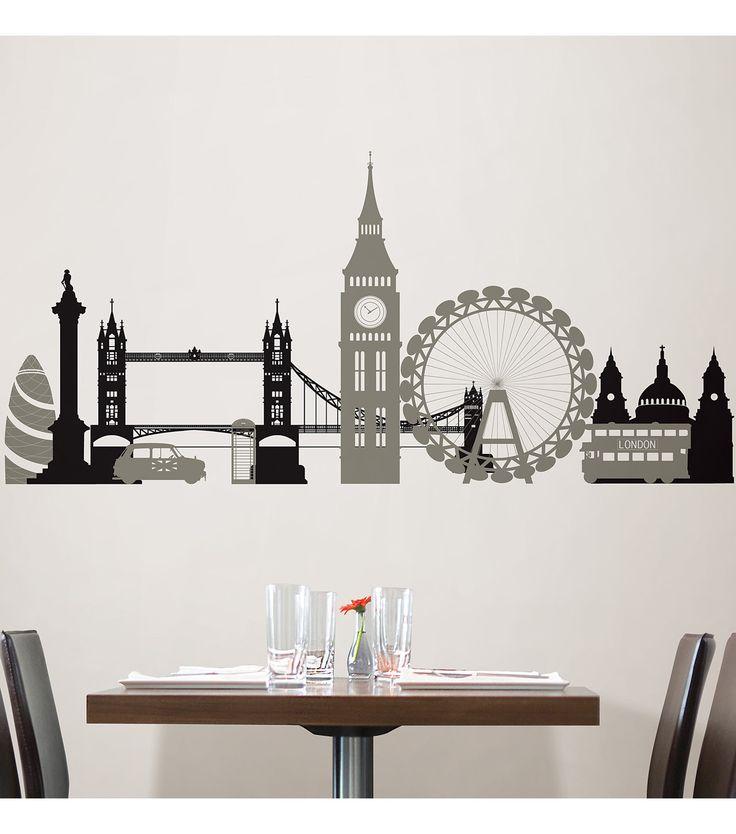 Wall Pops London Calling Wall Art Decal Kit, 2 Piece Setnull