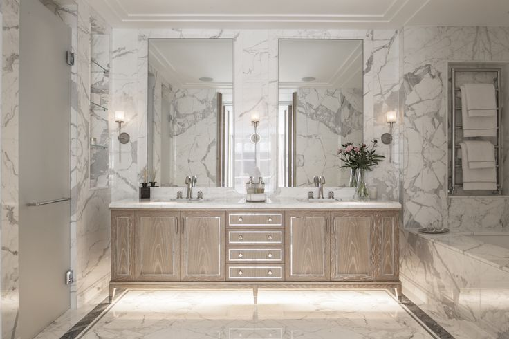 With roots in the Arts & Crafts movement, the design principle of Truth to Materials continues to inform our approach today. Marble bathroom by 1508 London.