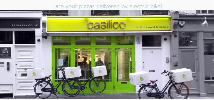 The first fleet of electric pizza delivery bikes in London are ready to roll!