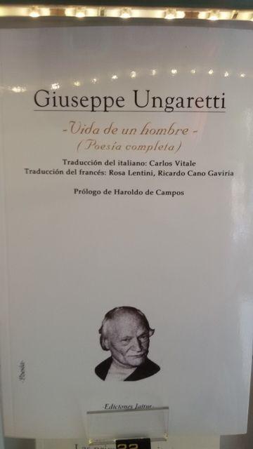 """Vida de un hombre. Poesia completa"" de Giuseppe Ungaretti. Igitur editores."