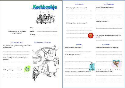Bij elke kerkdienst te gebruiken boekjes op Kerkboekje.nl