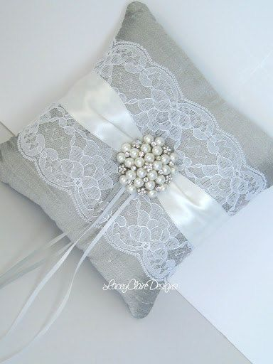 Lace Ring Bearer Pillow for wedding  made by LaceyClaireDesigns, $49.00