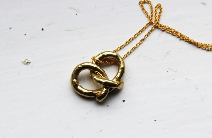 If salty pretzels are your thang and you also have a unwavering desire for beautiful jewellery - you've just found your necklace SOULMATE! Congrats.  This little guys costs €130 from New Irish store APRIL AND THE BEAR - www.aprilandthebear.com