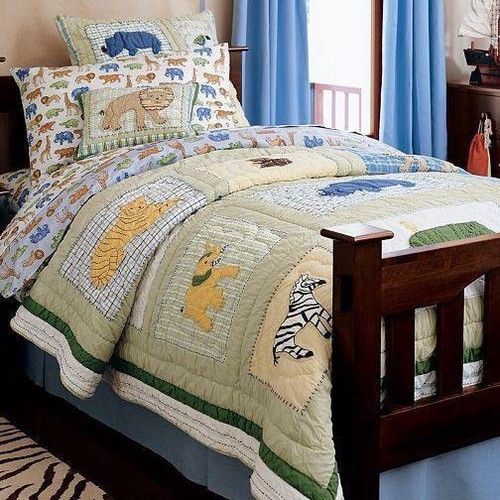New Pottery Barn Kids At The Zoo Twin Bedding Set Quilt