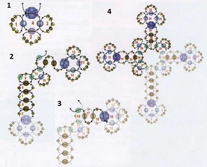 Крестик из бисера / Кулоны и подвески, Пасхальные изделия / Biserok.org