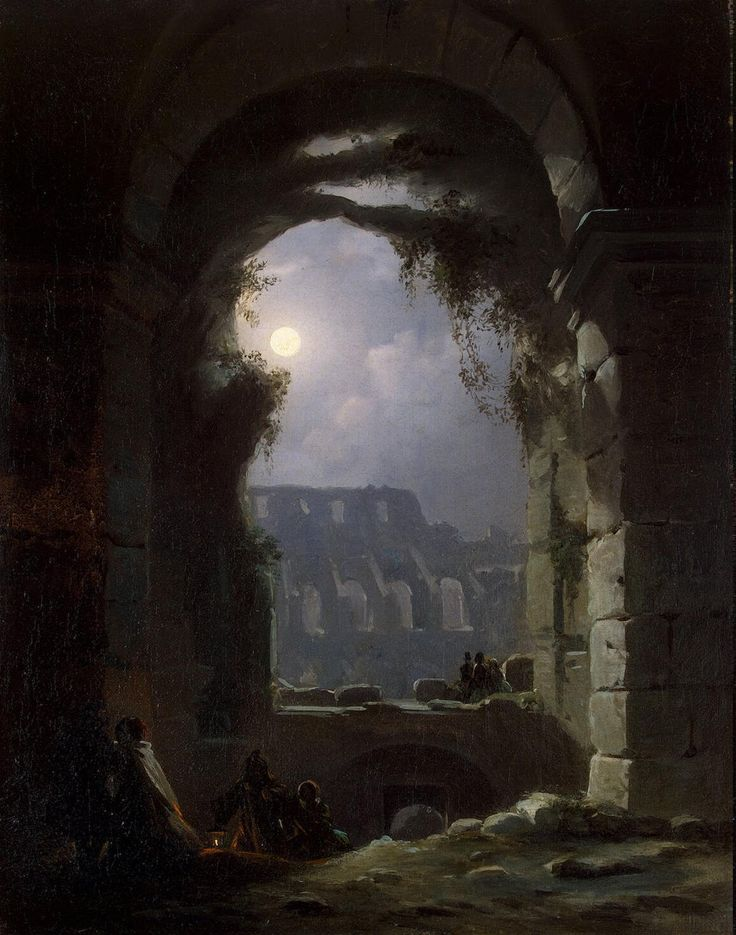View of the Colosseum by Night - Carus Carl Gustav