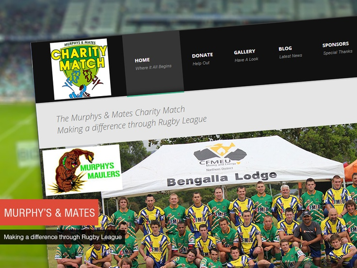 Studio 72 Web Design built a clean and simple website for Murphys & Mates Charity Match, with a content management system which enables them to make updates to their website.