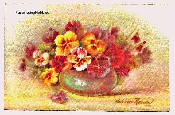 Madeleine RENAUD Famous flowers Watercolor by FascinatingHobbies