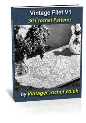 Vintage Filet Crochet Patterns Ebook $4.99