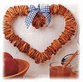 A wreath made of dried apples slices, cinnamon, and cloves; I bet this smells delicious!