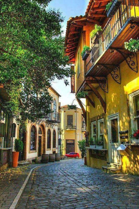 Visit Greece | Who could resist a nice walk down these colourful streets of Xanthi? Greece