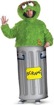 PartyBell.com - Sesame Street Oscar the Grouch Adult Costume
