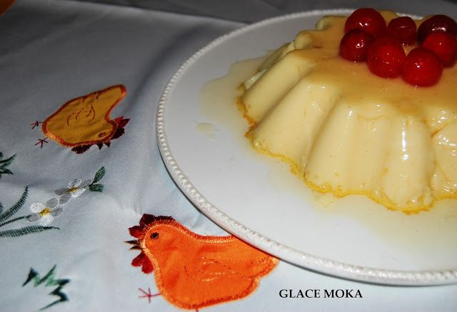 Glace Moka: FLAN DE HUEVO AL RON