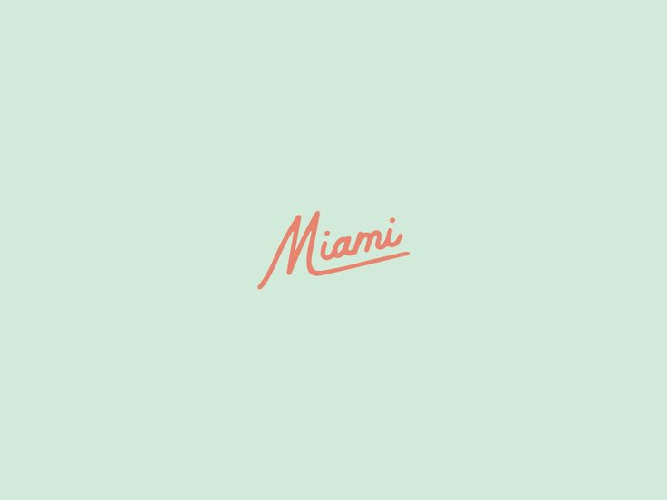 Miami by Saturday Studio #Design Popular #Dribbble #shots