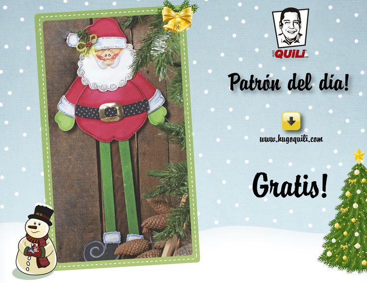 Descarga este patron del Papa Noel en tamaño real completamente gratis en nuestra pagina web.