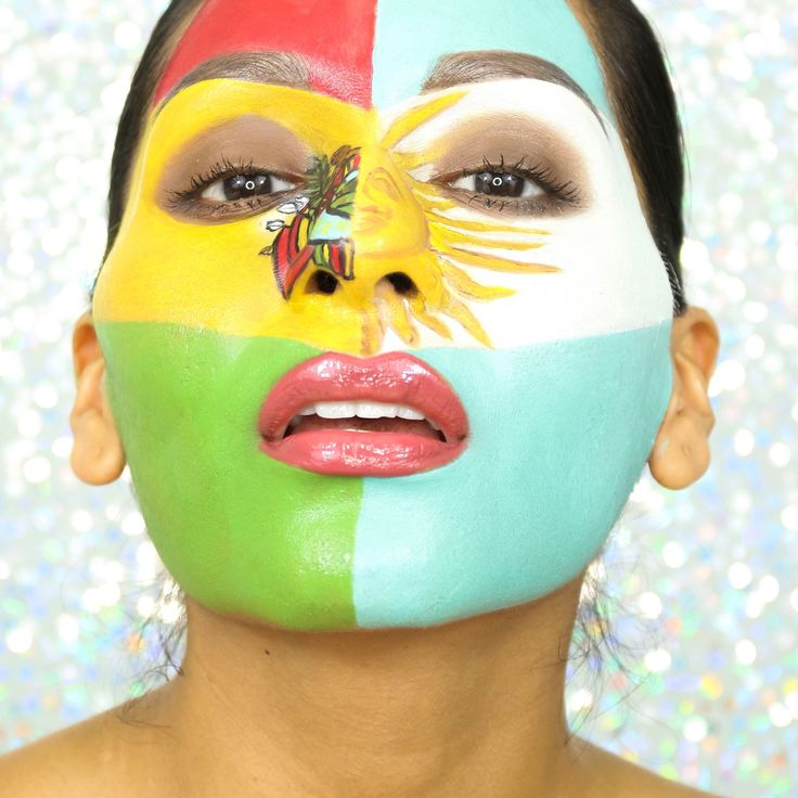 Representing my roots - Argentina & Bolivia - for Copa America Centenario 2016  I used @makeupforever flash palette Link of this video➡️ https://youtu.be/5m3OsJa6QhY  #makeup #beauty #latina #makeupforever #flashpalette #makeupartist #latinablooger #blogger #facepainting #youtuber #messi #beautybymariela