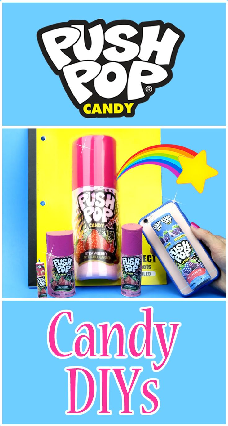 DIY School Supplies & More! 5 Push Pop Candy DIYs (Slime,Lip Balm,Phone Case, Mini Notebook & Pen) Learn how to make 5 DIY Candy Craft Project Ideas! Candy (edible) phone case,Push Pop lip balm fluffy slime notebook,Miniature notebook and mini pens. In this DIY video tutorial learn how to make your own Push Pop Candy inspired crafts that are cool, easy and unique. I will show you how to make a DIY Push Pop Candy phone case with a secert hiding place for edible candy. DIY Crafts for kids…