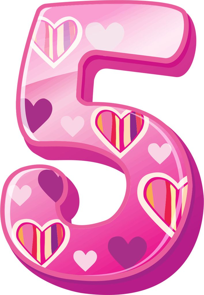 Pink Number 1 Png