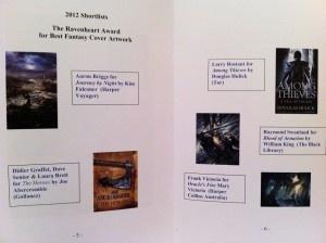 The Award Booklet - details of the Ravenheart Award shortlist