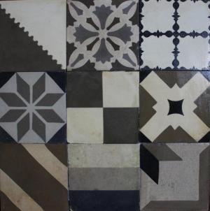 Black & White Tapas - Mixed Antique Tiles Selection