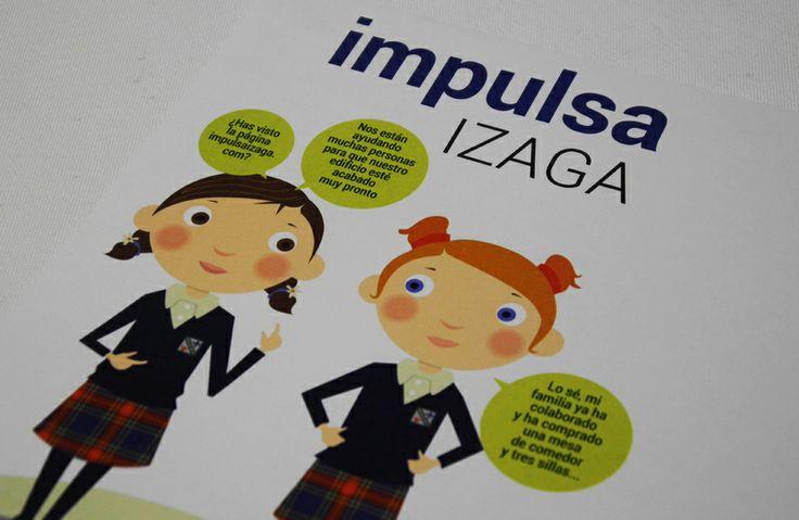 Realización de sobres y cartas para la campaña de Impulsa Izaga, destinada a apoyar el proyecto del centro escolar Irabia-Izaga - Calle Mayor Comunicación y Publicidad