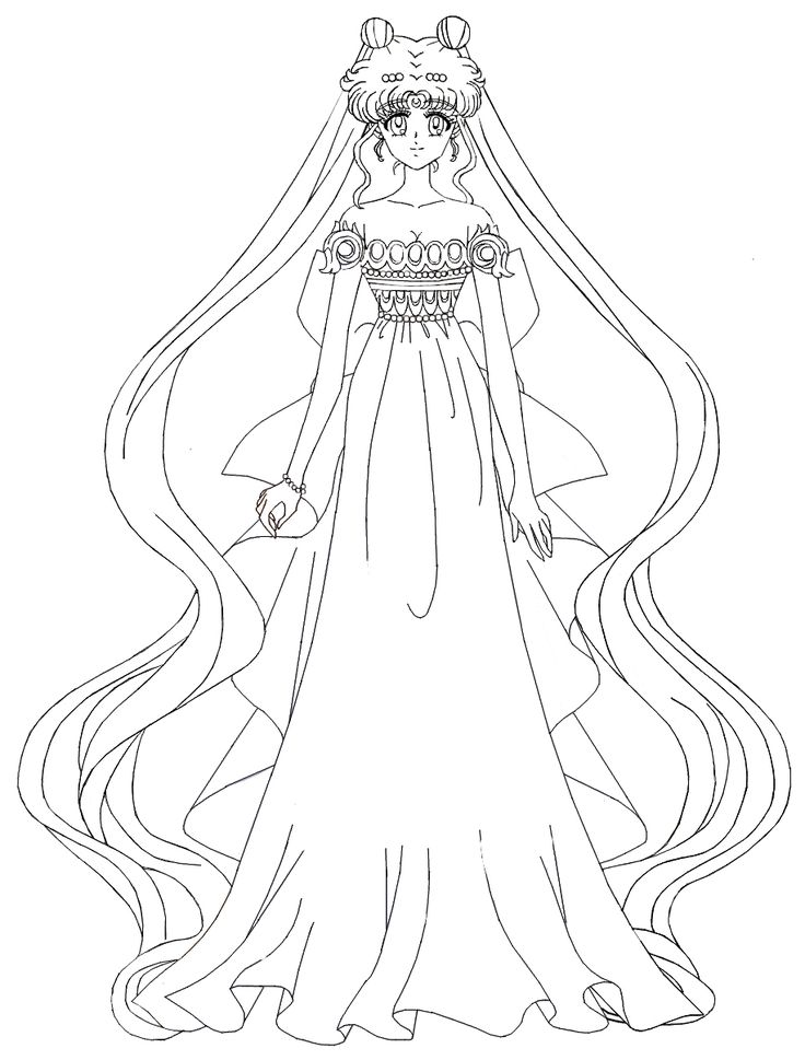 queen serenity coloring pages | Sailor Moon Crystal - Princess Serenity by MissLily1990 on ...