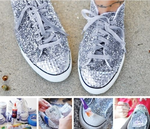 zapatillas con brillos