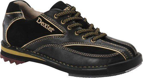 Dexter Women's SST 8 SE Bowling Shoes, Black/Gold, 10 by Dexter. $109.99. Unique Total Interchangeable Sole Construction. Goodyear Replaceable Rubber Traction Soles. Right or Left Convertible Leather Toe Drag Protector stops slide sole peel back. Soft Full-Grain Leather Upper Sofft Last Stitch-Down ConstructionOn Shoe-H5 Saw Tooth Heel, H2 Ultra Brakz, S8 Slide Sole, T3 Traction.