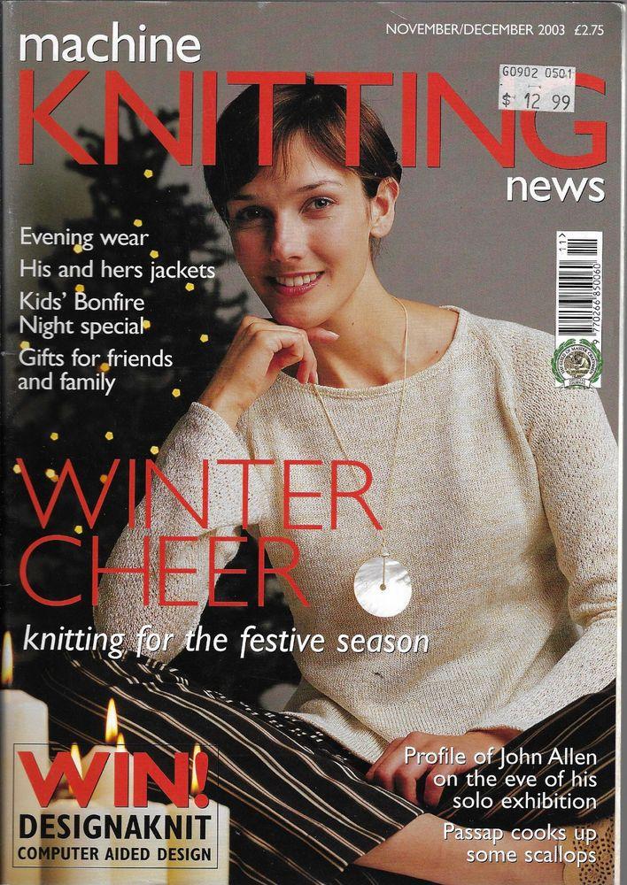 Machine Knitting News magazine November/December 2003