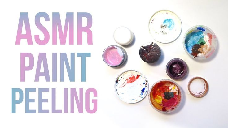 ASMR Paint Peeling and Paint Scraping - No Talking. ASMR paint peeling and scraping, no talking. Watch and listen to me cleaning dried acrylic off little plastic pots. I'm scraping and peeling the paint off with a knife and gathering the dried paint into a glass jar. The video includes ASMR paint peeling, paint scraping sounds and ASMR glass jar tapping.