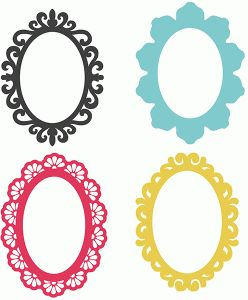 Silhouette Design Store - View Design #73535: 4 oval frames