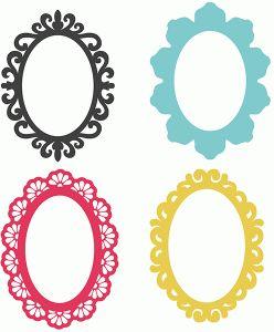 Silhouette Design Store - View Design #73535: 4 oval frames