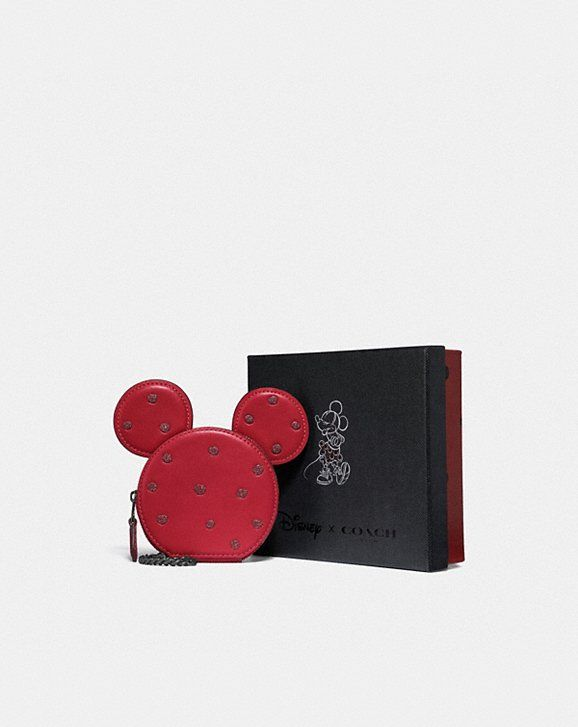 new concept 4ce62 b3a5e Boxed minnie mouse coin case in 2019 | bag lady | Coach wallet ...