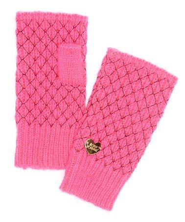 Look what I found on #zulily! Neon Pink Net Worth Fingerless Gloves #zulilyfinds