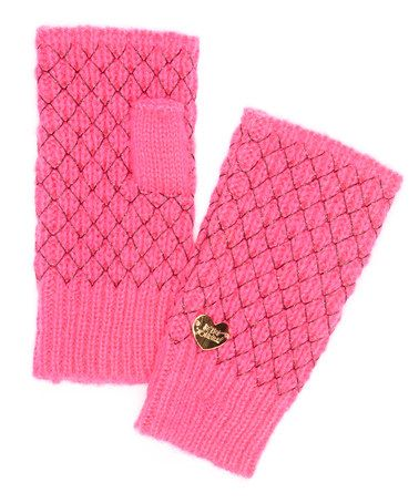 Look what I found on #zulily! Neon Pink Net Worth Fingerless Gloves #zulilyfinds