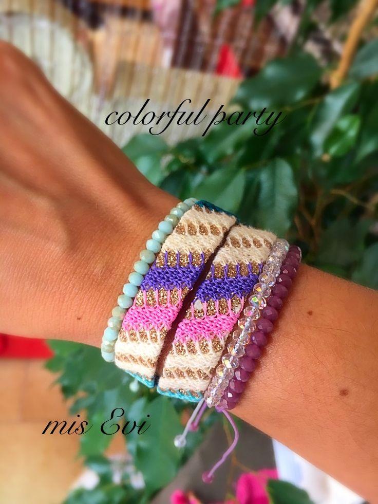 Colorful party handmade bracelets