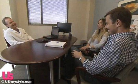 Consultation: A new clip shows Giuliana and Bill Rancic consulting with fertility specialist Dr William Schoolcraft in Denver Colorado about a third round of IVF