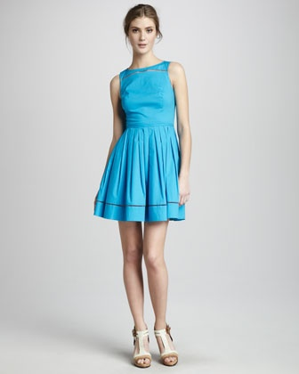 Michelle Sleeveless Poplin Dress at CUSP.: Pretty Dresses, Cats, Sleeveless Poplin, Shoshanna Michelle, Clothing Inspiration, Coveted Clothing, Neiman Marcus, Michelle Sleeveless