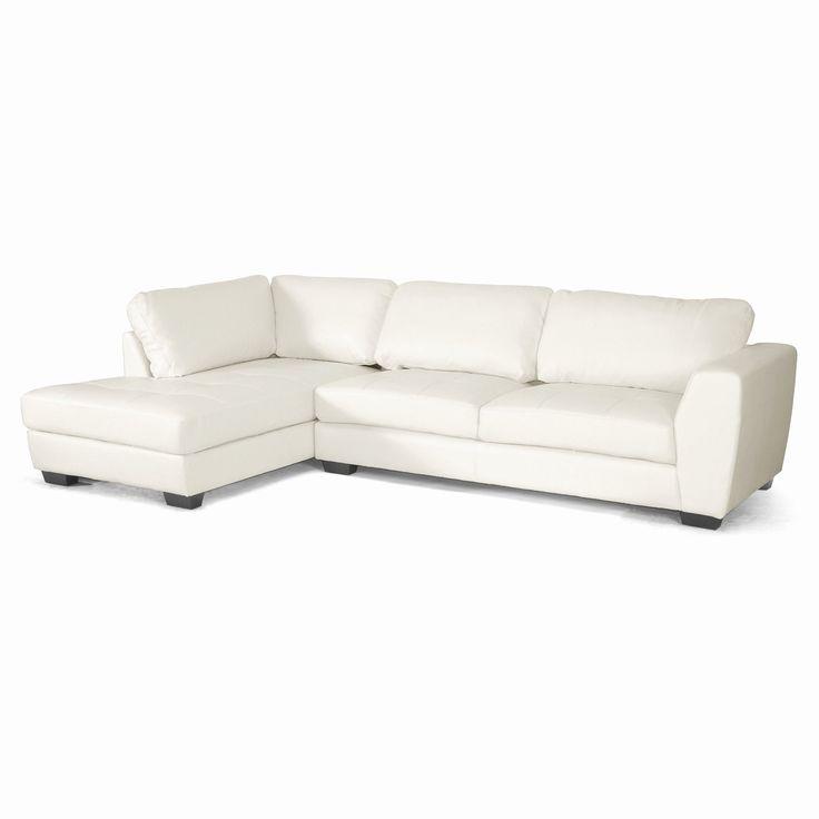 Elegant White Leather Sofas Pics Baxton Studio Orland Leather Modern  Sectional Sofa Set