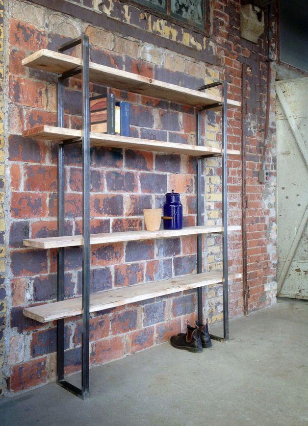 Bücherregale - Regal im Shabby Chic Stil, Bauholz/Eisen Sinem - ein Designerstück von FraaiBerlin bei DaWanda