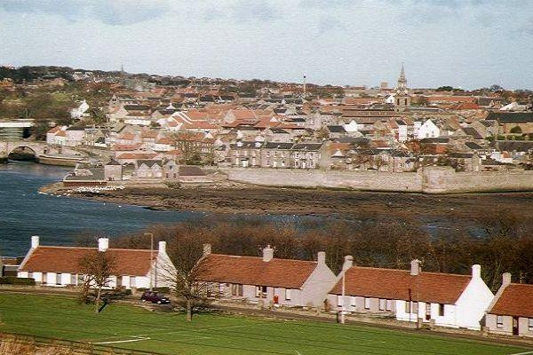 the town of berwick upon tweed northumberland england