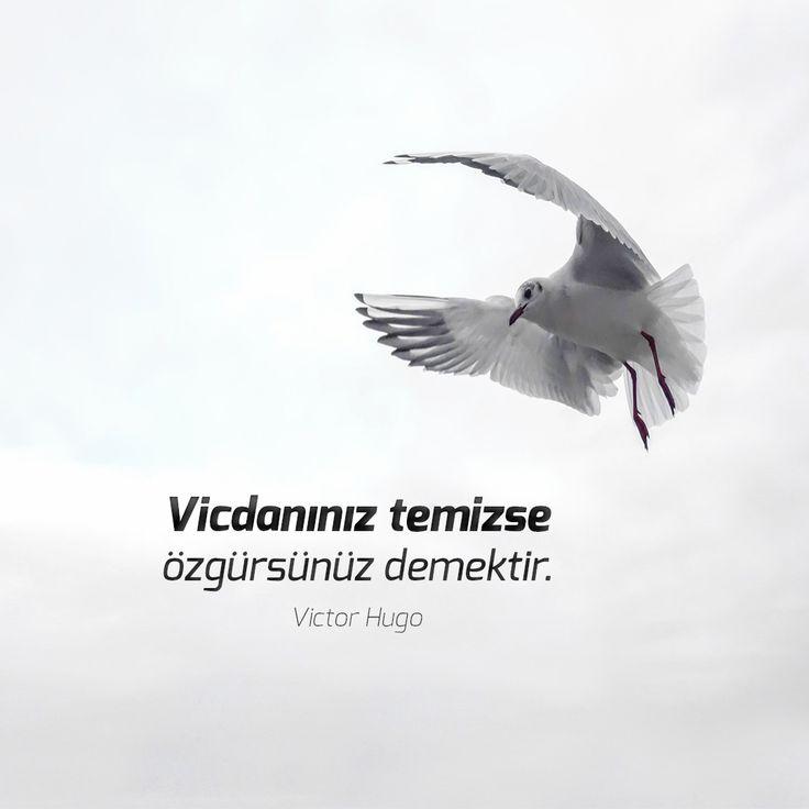 Vicdanınız temizse özgürsünüz demektir.  Victor Hugo